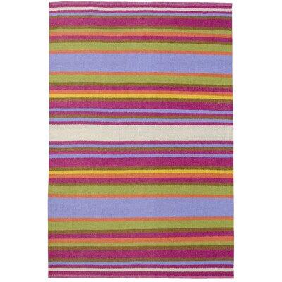 Koko Company Folk Multi-Color Striped Outdoor Rug