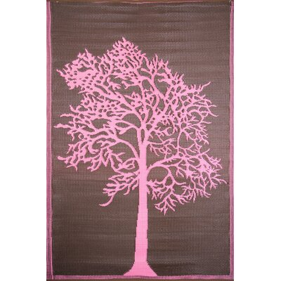 Koko Company Tree Brown / Pink Outdoor Rug