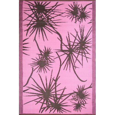 Koko Company Bamboo Pink / Brown Outdoor Rug