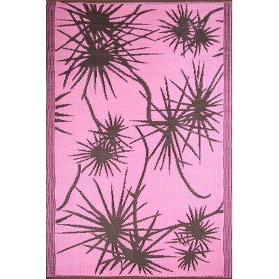 Koko Company Bamboo Pink / Brown Outdoor Rug