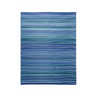 Koko Company Melange Bubble Gum Blue Outdoor Rug