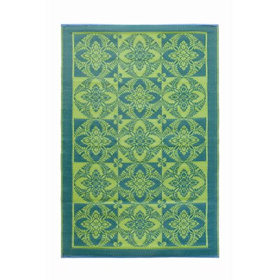 Koko Company Primrose Apple Green Rug