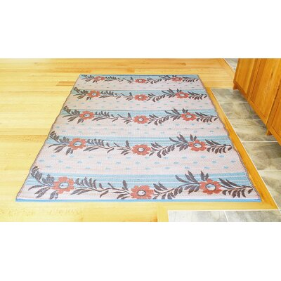 Koko Company Vines Orange Brown / Cream Outdoor Rug