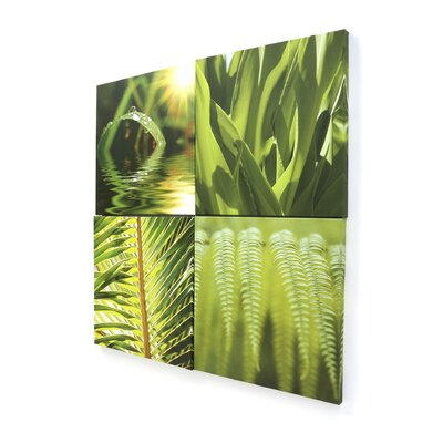Graham & Brown Graham and Brown Leaf Quad4 Piece Photographic Print on Canvas Set
