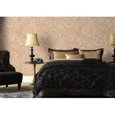Graham & Brown Ulterior Saville Scroll Foiled Wallpaper