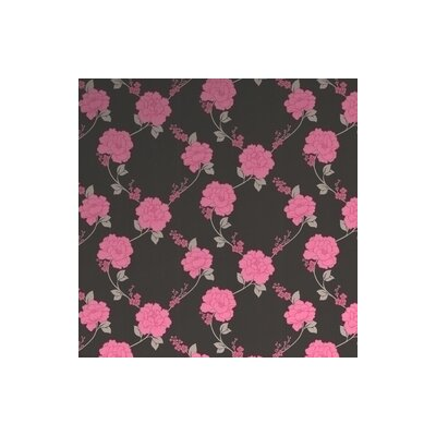 Graham & Brown Laurence Llewelyn Bowen Shantung Floral Botanical Wallpaper