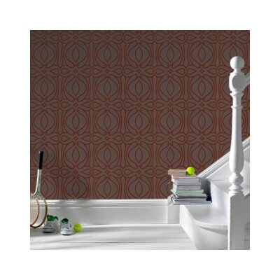 Graham & Brown Barbara Hulanicki Flock Baroque Geometric Flocked Wallpaper