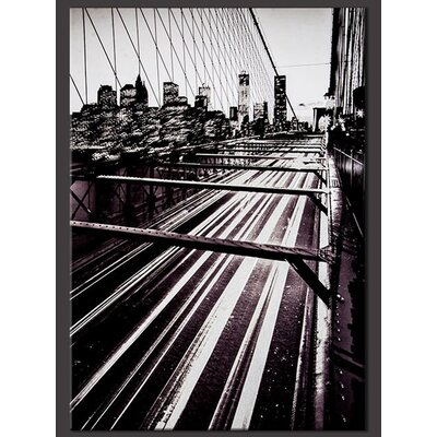 Brooklyn Bridge Lights Photographic Print on Canvas