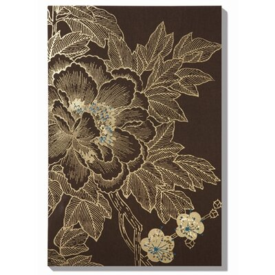 Graham & Brown The Monsoon Lhasa Lotus - Choc Painting Print on Canvas