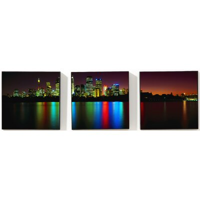 Portfolio City Reflections 3 Piece Photographic Print on Canvas Set