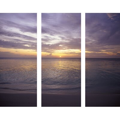 Portfolio Sunset At Sea 3 Piece Photographic Print on Canvas Set