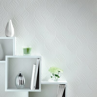 Graham & Brown Paintable Pure Wallpaper in White