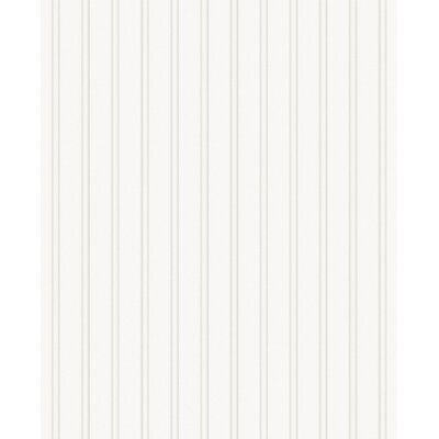 Graham &amp; Brown Paintable Prepasted Paintable Beadboard Wallpaper in White
