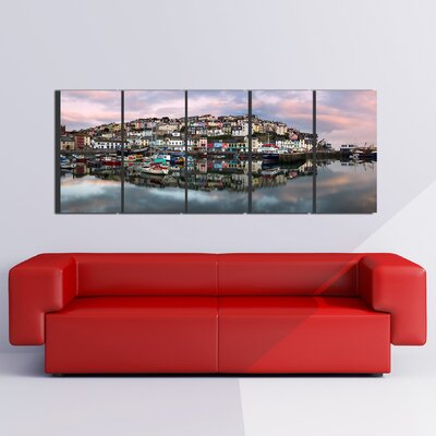 Graham & Brown Graham and Brown Brixham Harbour 5 Piece Photographic Print on Canvas Set