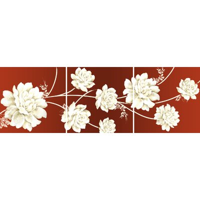Graham and Brown Rose Triptych 3 Piece Graphic Art on Canvas Set
