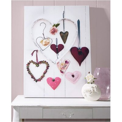 Graham and Brown Hearts Compendium Graphic Art on Canvas