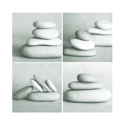 Graham & Brown Pebbles Quad Canvas Blocks (Set of 4)