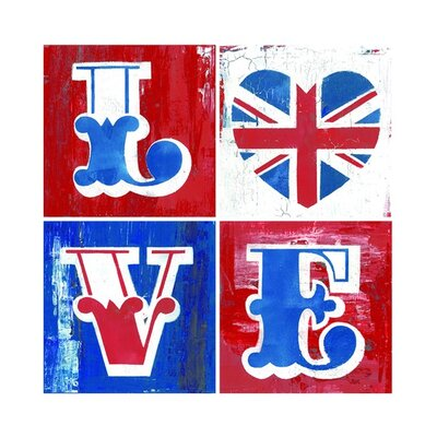 Graham & Brown Love Union Canvas Blocks (Set of 4)