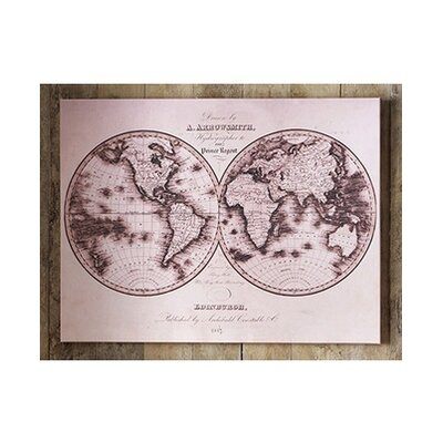 Map Graphic Art on Canvas