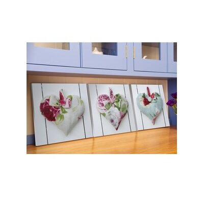 Graham & Brown Hearts 3 Piece Graphic Art on Canvas Set