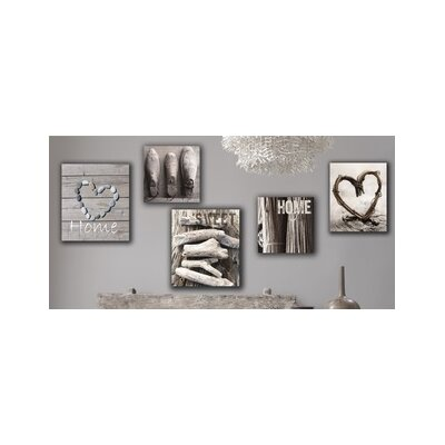 Graham & Brown Home Sweet Home Canvas Wall Art (Set of 5)