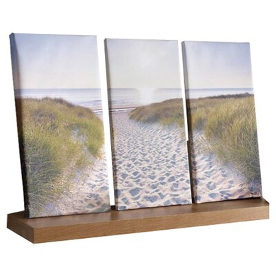 Graham & Brown Graham and Brown Beach Walk Three Piece Photographic Print on Canvas