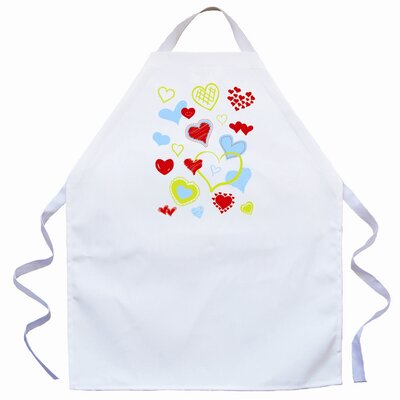 Attitude Aprons by L.A. Imprints Hearts Apron in Natural