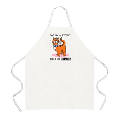 Attitude Aprons by L.A. Imprints Call 1-800-Get-A-Dog Apron in Natural