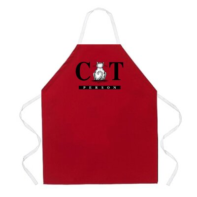 Cat Person Apron in Red