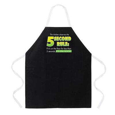 5 Second Rule Apron in Black