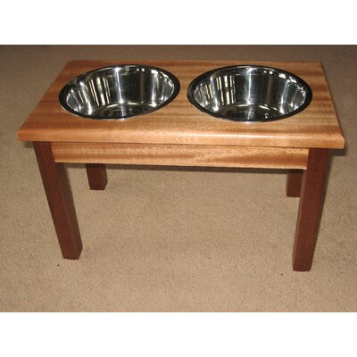 Classic Pet Beds 2-Bowl Traditional Style Pet Diner in Specality Wood