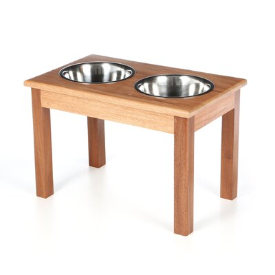 <strong>Classic Pet Beds</strong> 2-Bowl Traditional Style Pet Diner