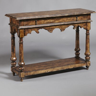 Rustic Distressed Chic One Drawer Console Table