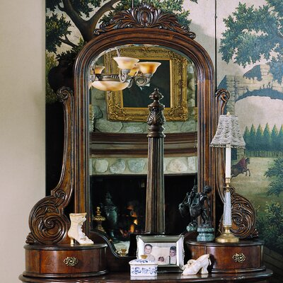 Pulaski Furniture Edwardian Crowned Top Dresser Mirror