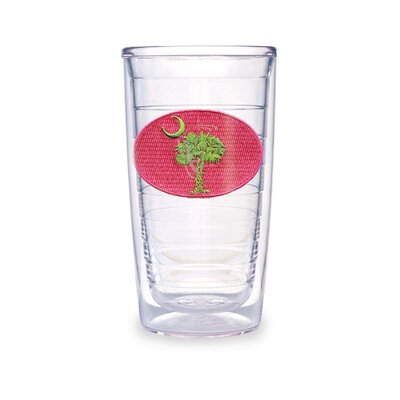 South Carolina Flag in Pink and Green 16 oz. Tumbler (Set of 2)