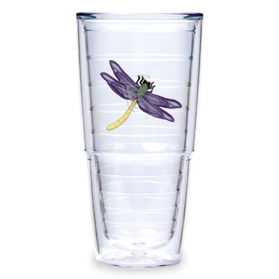 Dragonfly 24 oz. Purple Tumbler (Set of 2)
