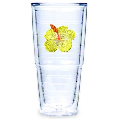 Tervis Tumbler Hibiscus Yellow 24 oz. Big-T Tumbler (Set of 2)