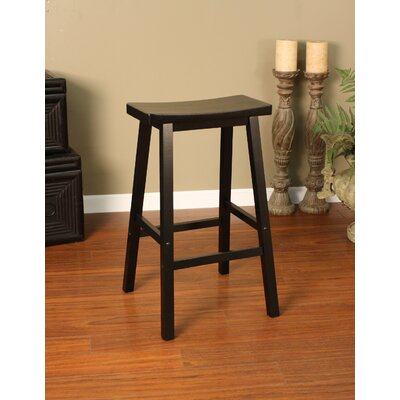 American Heritage Wood Saddle Bar Stool