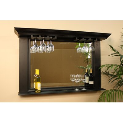 Eldorado Mirror with Glass Holders in Antique Black