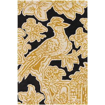 Thomas Paul Tufted Pile Yellow Toile Rug