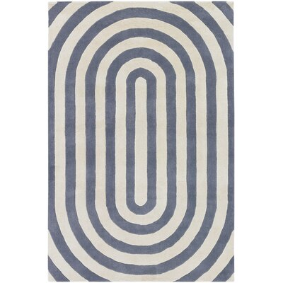 Tufted Pile Grey Geometric Rug