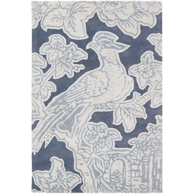 Tufted Pile Grey Toile Rug