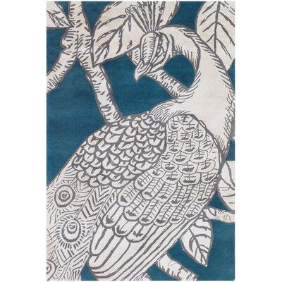 Thomas Paul Tufted Pile Turquoise Peacock Rug