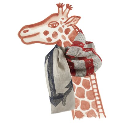 Thomas Paul Vineyard Anhor Linen Scarf