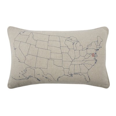 USA Embroidered Pillow