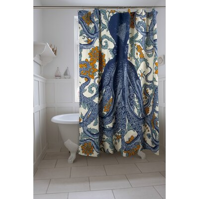 Bath Octopus Vineyard Shower Curtain