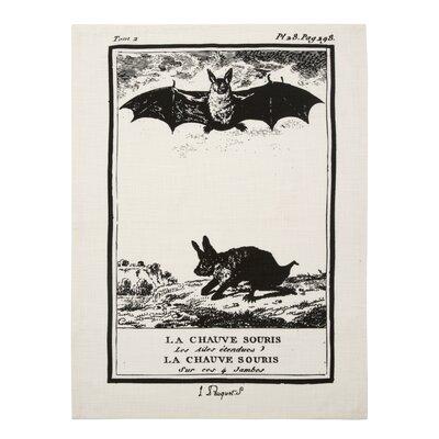 Vintage Engravings Bat Clingancourt Tea Towel