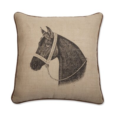 "Thomas Paul Thoroughbred Horse 18"" x 18"" Pillow"