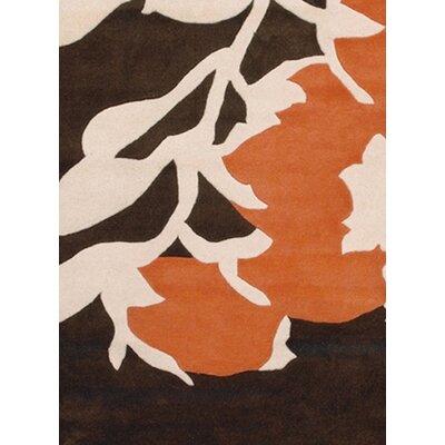 Thomas Paul Tufted Pile Brown Orange Buds Rug Allmodern