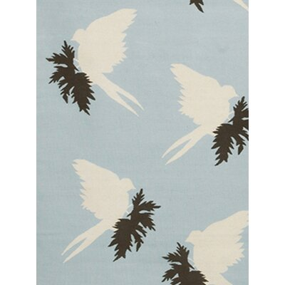 Thomas Paul Flat-weave Dhurrie Ponder/Cream Swallows Rug